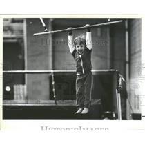1984 Press Photo Lars Walter strength Toddles Working
