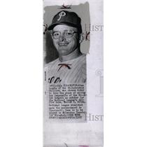 1955 Press Photo Stanley Lopata in National League BB. - RRW73649
