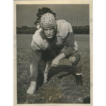 1943 Press Photo Charlie Malberg Rice Tackle - sbs08963