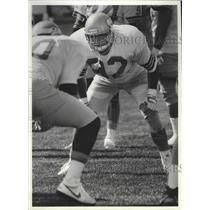 1989 Press Photo Seattle Seahawks football line backer, Dave Wyman - sps09378