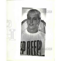 1987 Press Photo Wrestler, John McVay - sps09415