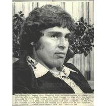 1976 Press Photo Dave Williams released by Seattle Seahawks football team