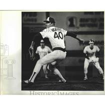 1981 Press Photo Seattle Mariners baseball pitcher, Jim Beattie, in action
