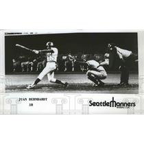 1977 Press Photo Seattle Mariners baseball player, Juan Bernhardt - sps10301