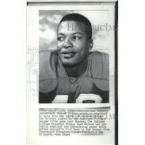 1970 Press Photo Oakland Raiders football cornerback, Nemiah Wilson - sps10487