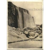 Undated Press Photo Talons of Gigantic Snow Monster of Niagara Falls NY