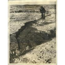 1934 Press Photo Dr.Frederick J. Pack, discovered Epicenter of Earthquake.