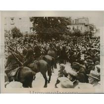 1941 Press Photo Sofia Bulgaria German occupation troops on patrol - nem40409