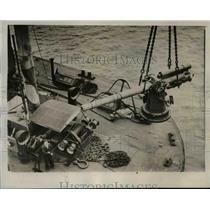 1939 Press Photo British merchant shis armed against German u boats - nem40480