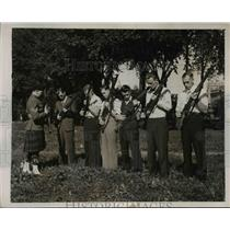 1939 Press Photo Canadian Military Recruits in Rifle Training in Ottawa
