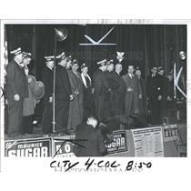 1941 Press Photo Cass Tech High-23 Men, UAW.