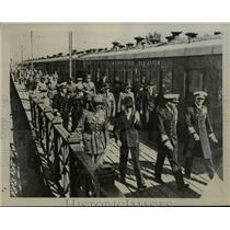 1939 Press Photo British & French Missions Arrive in Moscow for Staff Conference