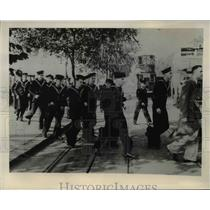 1939 Press Photo British Youths Board Naval Training Ships in London, England