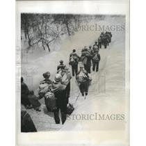 1945 Press Photo Refugees National Red Cross Sweden - RRX88161