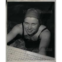 1954 Press Photo Kitty Kennary Swimmer Ransom Water - RRX57665