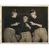 "1942 Press Photo Lew Sieth, Henry ""Hank"" Mazur, BobWhitlow West Point Football"