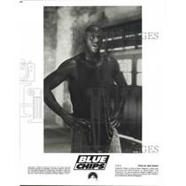 "1994 Press Photo Basketball superstar, Shaquille O'Neal stars in ""Blue Chips"""