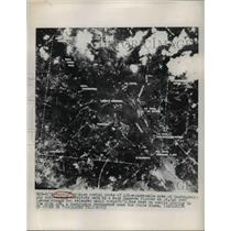 1949 Press Photo Navy Aerial Photo of 121-Square-Mile Area of WA Made by Fighter