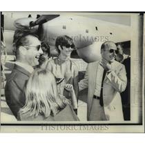 1956 Press Photo Richard Gordon and Charles Conrad at Houston Space Center