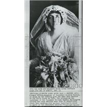 1914 Press Photo Eleanor Wilson in wedding gown when married in White House