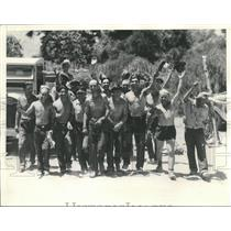1933 Press Photo Crew of California forestry workers in federal Forestry Camps