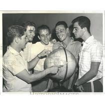 1959 Press Photo Pan American Volleyball Brazil - RRW52043