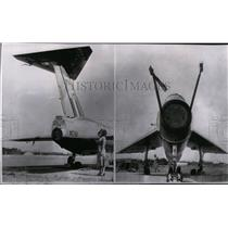 1953 Press Photo The British research jet called the SB5, on display in air show