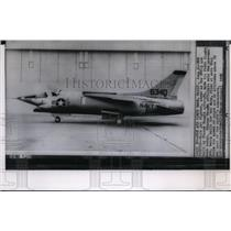 1958 Press Photo Jet fighter, the F8U-3 built by Chance Vought aircraft.