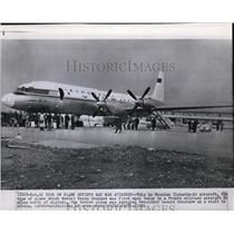 1961 Press Photo The Russian Ilyushin-18 Aircraft which the French fired upon