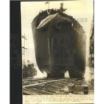 1942 Press Photo Freighter JOhn Davenport Launches - RRW43767