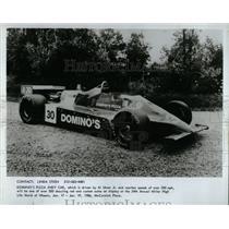 1986 Press Photo Al Unser Jr. Indy Car Domino's Pizza - RRW62719