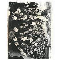 1938 Press Photo Demonstrators Detroit Ford CIO Members - RRX93477