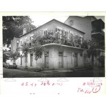 1992 Press Photo Potted Plant Gardens in French Quarter, New Orleans