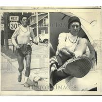 1972 Press Photo South African Runner John Ball Running Cross-Country