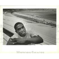 1989 Press Photo Tad Gormley Stadium - Robert Baker, New Orleans, Louisiana