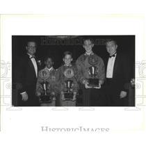 1993 Press Photo Kenner, Louisiana Football Players Receive Awards