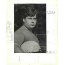 1989 Press Photo St. Bernard High School - David Barney, Football Player