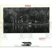 1988 Press Photo Bayou Liberty - House on Bayou Liberty, Louisiana