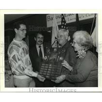 1992 Press Photo Bayou Lacombe Rural Museum - Hall of Heroes Dedication Ceremony
