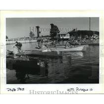 1993 Press Photo Bayou Liberty Pirogue Race - Canoe Race Participants