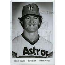 1979 Press Photo Dennis Walling Houston Astros Baseball - RRW80363
