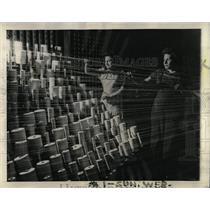 1943 Press Photo Bobbin Winding Net Making Workers - RRW64561