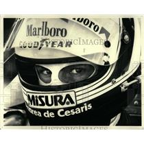1981 Press Photo Grand Prix race car driver closeup - RRW62703