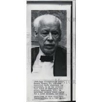 1867 Press Photo Norman Thomas on critical list at Huntington Hospital