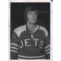 1970 Press Photo Spokane Jets hockey goalie, Bob Wolfe - sps12062