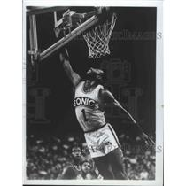 1982 Press Photo Seattle Supersonics basketball point guard, Gus Williams