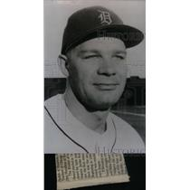 1993 Press Photo Harvey Kuenn Shortstop Detroit Tigers - RRX39089