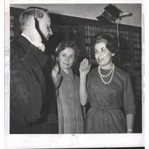 1962 Press Photo Judge Hubert Will Leclaire Mrs Athena - RRW50031
