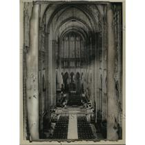 1921 Press Photo St. Denis Cathedral,Paris, burial place of King of France