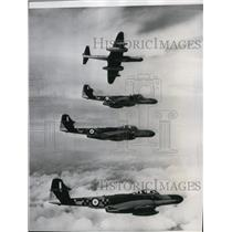 1954 Press Photo Meteor NF 14s, new British jet night fighter planes by RAF